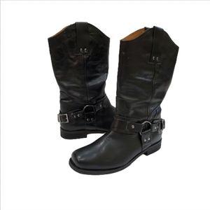 Eddie Bauer Bronx Leather Black Boots, 10